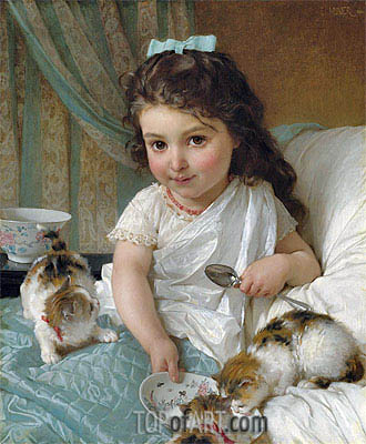 The Morning Meal, 1880 | Emile Munier | Painting Reproduction