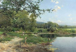 A Picnic on the Riverbank, 1886 by Emilio Sanchez-Perrier | Painting Reproduction