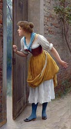 The Eavesdropper, 1906 by Eugen de Blaas | Painting Reproduction