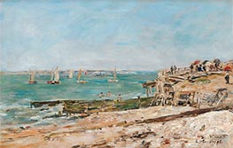 Villerville, the Shore, 1896 by Eugene Boudin | Painting Reproduction