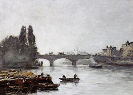 Rouen, the Pont Corneille, Fog Effect, 1896 by Eugene Boudin | Painting Reproduction