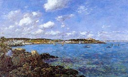 The Bay of Douarnenez, 1897 by Eugene Boudin | Painting Reproduction