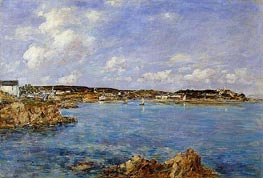 Douarnenez, the Bay, View of l'Ile Tristan | Eugene Boudin | Gemälde Reproduktion