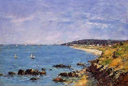 Trouville, View from the Heights, 1897 by Eugene Boudin | Painting Reproduction