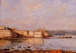 The Harbor of Antibes, undated by Eugene Boudin | Painting Reproduction