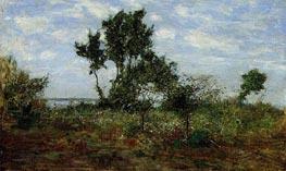 Landscape, near Honfleur, undated by Eugene Boudin | Painting Reproduction