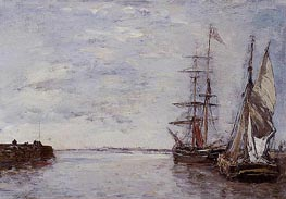 The Port at Deauville | Eugene Boudin | Gemälde Reproduktion