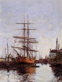 Venice, Quai de la Guidecca | Eugene Boudin | Painting Reproduction
