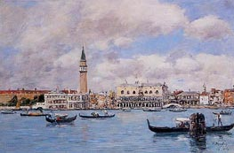 Venice - The Campanile, the Ducal Palace, 1895 by Eugene Boudin | Painting Reproduction