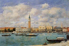 Venice, The Campanile, View of Canal San Marco | Eugene Boudin | Painting Reproduction