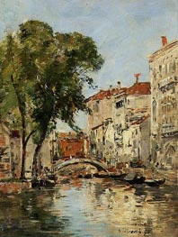 A Small Canal in Venice | Eugene Boudin | Gemälde Reproduktion