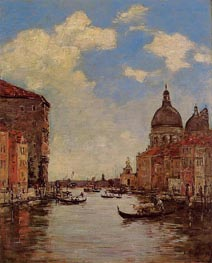 Venice, the Canal de la Gandara | Eugene Boudin | Painting Reproduction