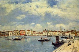 Venice, View from San Giorgio, 1895 by Eugene Boudin | Painting Reproduction