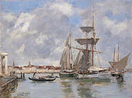 Venice, The Grand Canal | Eugene Boudin | Gemälde Reproduktion