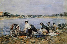 Laundresses | Eugene Boudin | Gemälde Reproduktion
