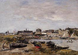 Trouville, View from Deauville, a Day in March, 1895 von Eugene Boudin | Gemälde-Reproduktion