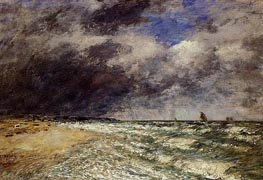 A Squall from Northwest | Eugene Boudin | Gemälde Reproduktion