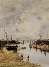 Trouville, the Jettys, Low Tide, 1894 von Eugene Boudin | Gemälde-Reproduktion