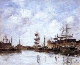 Fecamp, the Inner Harbor | Eugene Boudin | Gemälde Reproduktion