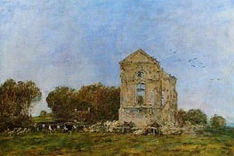 Deauville, Ruins of the Chateau de Lassay, 1893 by Eugene Boudin | Painting Reproduction
