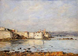 Antibes, the Fortifications, 1893 von Eugene Boudin | Gemälde-Reproduktion