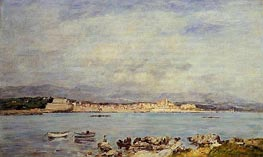 Antibes, Vue pris de la salis, 1893 by Eugene Boudin | Painting Reproduction
