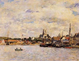 Fecamp, The Port, 1892 von Eugene Boudin | Gemälde-Reproduktion