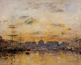 The Commerce Basin, Le Havre, 1892 von Eugene Boudin | Gemälde-Reproduktion