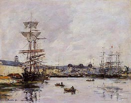 Le Havre, the Casimir Delavigne Basin | Eugene Boudin | Painting Reproduction