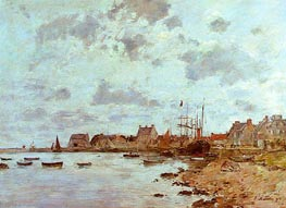 The Port at Saint-Vaast-la-Hougue, 1892 by Eugene Boudin | Painting Reproduction
