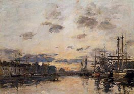 Fecamp, the Basin | Eugene Boudin | Painting Reproduction