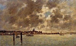 The Seine at Quillebeuf | Eugene Boudin | Painting Reproduction