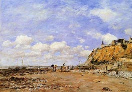 The Shore at Villerville, 1893 by Eugene Boudin | Painting Reproduction