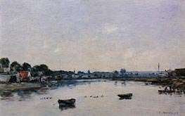 The Banks of the Touques, 1893 by Eugene Boudin | Painting Reproduction
