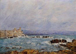 Antibes, the Rocks of the Islet, 1893 by Eugene Boudin | Painting Reproduction