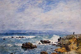 Antibes, the Point of the Islet, 1893 by Eugene Boudin | Painting Reproduction