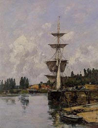 The Canal at Saint-Valery-sur-Somme | Eugene Boudin | Gemälde Reproduktion