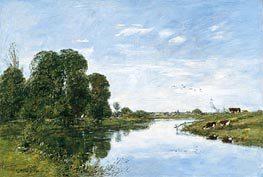 The River Touques at Saint-Arnoult | Eugene Boudin | Painting Reproduction