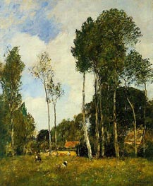 Oiseme Landscape, near Chartres | Eugene Boudin | Painting Reproduction
