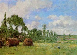 Oiseme at Harvest Time | Eugene Boudin | Painting Reproduction