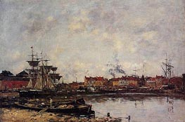 Dunkirk, The Inner Port | Eugene Boudin | Gemälde Reproduktion