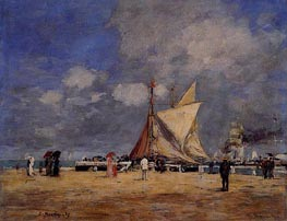 Deauville, on the Jetty | Eugene Boudin | Gemälde Reproduktion