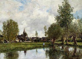 Village around Dunkirk | Eugene Boudin | Gemälde Reproduktion