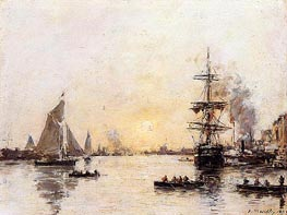 Le Haver, the Outer Port | Eugene Boudin | Gemälde Reproduktion
