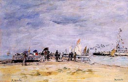 Deauville, the Jetty | Eugene Boudin | Gemälde Reproduktion