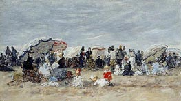Trouville, Beach Scene | Eugene Boudin | Painting Reproduction