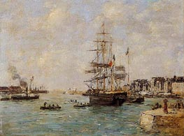 Le Havre, the Outer Port, 1886 von Eugene Boudin | Gemälde-Reproduktion