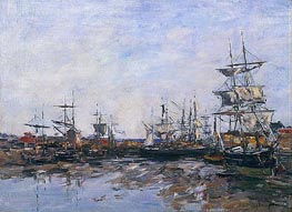 Trouville, the Port at Low Tide | Eugene Boudin | Gemälde Reproduktion