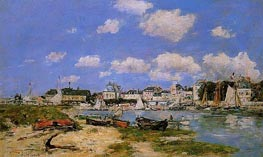 Trouville, the Port, c.1885/90 von Eugene Boudin | Gemälde-Reproduktion