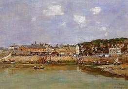 The Port of Trouville, the Market Place | Eugene Boudin | Gemälde Reproduktion